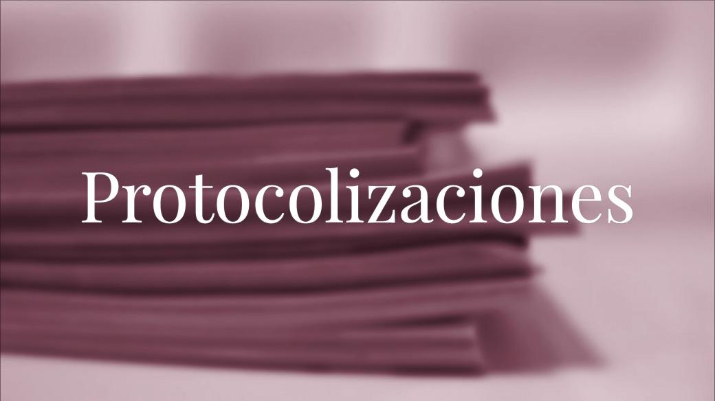 Protocolizaciones