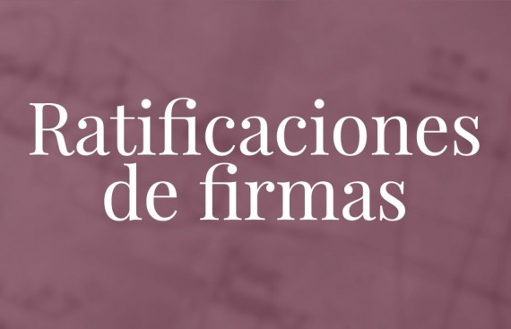 Ratifiación de firmas