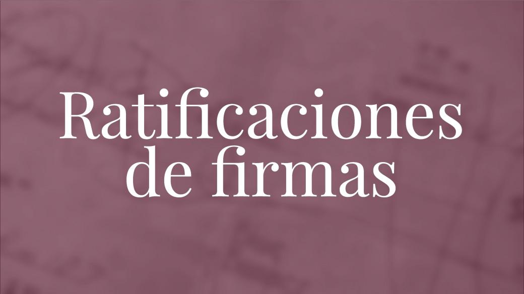 Ratifiación de firmas